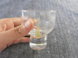 リポスフェリック ビタミンCを飲んだ後のグラス
