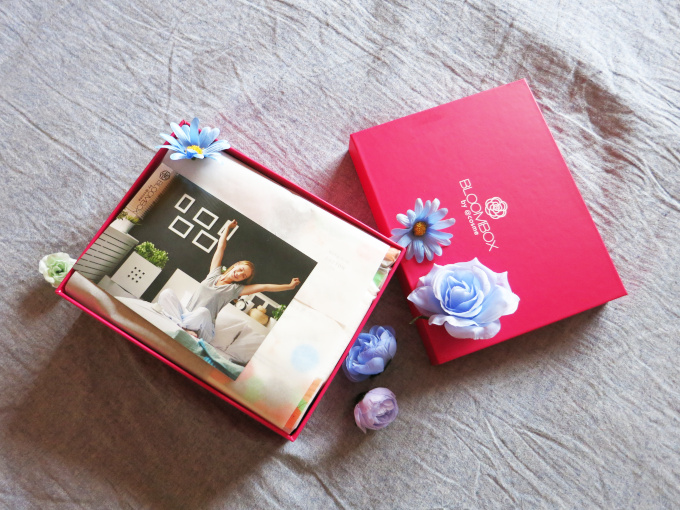 2020年5月のブルームボックスの箱とメッセージカード